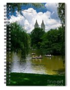 Rowboats Central Park New York Spiral Notebook
