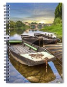 Rowboats On The French Canals Spiral Notebook