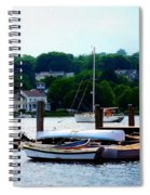 Rowboats Piled At Dock Spiral Notebook