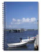 Rowboats Tied To Dock Spiral Notebook