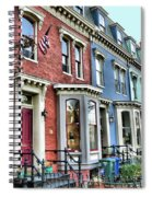 Rowhouses Of Eastern Market Xiv Spiral Notebook