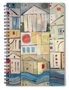 Rowhouses Triptych Spiral Notebook