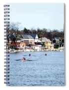 Rowing At Boathouse Row Spiral Notebook