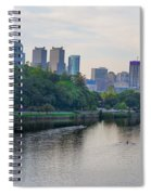 Rowing On The Schuylkill Riverwith Philadelphia Cityscape In Vie Spiral Notebook