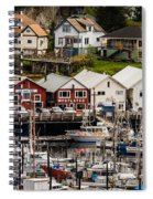 Rows Of Houses And Sails Spiral Notebook