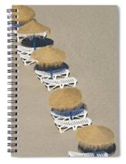 Rows Of Parasols On The Beach Of Spiral Notebook
