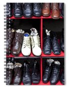 Rows Of Shoes Spiral Notebook