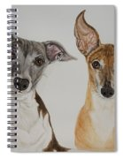 Roxie And Bruno The Greyhounds Spiral Notebook