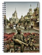 Roy And Minnie Mouse Antique Style Walt Disney World Spiral Notebook