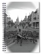 Roy And Minnie Mouse Black And White Magic Kingdom Walt Disney World Spiral Notebook