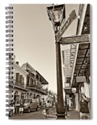 Royal Afternoon Sepia Spiral Notebook