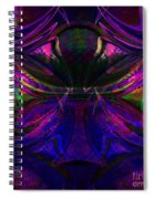 Royal Blue And Amethyst Spiral Notebook