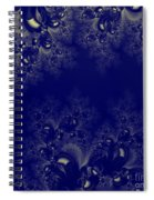 Royal Blue Frost Fractal Spiral Notebook