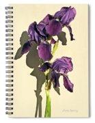 Royal Purple Iris Still Life Spiral Notebook