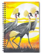 Royal Cranes From Rwanda Spiral Notebook