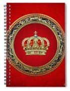 Royal Crown In Gold On Red  Spiral Notebook