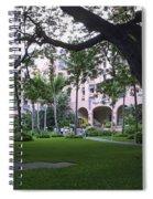 Royal Hawaiian Hotel Entrance Spiral Notebook