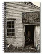 Royal Ice Cream Sepia Spiral Notebook