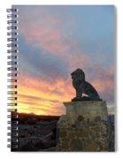 Royal Loin Statue Spiral Notebook