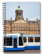 Royal Palace And Trams In Amsterdam Spiral Notebook
