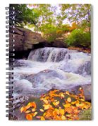 Royal River White Waterfall Spiral Notebook