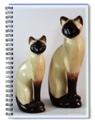 Royal Siamese - Ceramic Cats Spiral Notebook