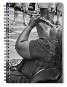 Royal Street Clarinet Player New Orleans Spiral Notebook