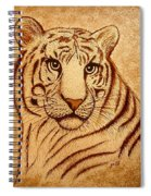 Royal Tiger Coffee Painting Spiral Notebook