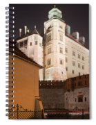 Royal Wawel Castle By Night In Krakow Spiral Notebook