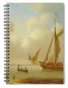 Royal Yacht Becalmed At Anchor Spiral Notebook