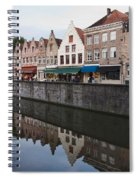 Rozenhoedkaai Bruges Spiral Notebook