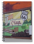 Rt 66 Dwight Il Java Stop Spiral Notebook