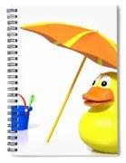 Rubber Duck At The Beach Spiral Notebook