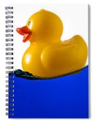 Rubber Ducky Rides A Wave Spiral Notebook