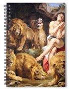 Rubens' Daniel In The Lions' Den Spiral Notebook