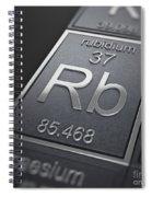 Rubidium Chemical Element Spiral Notebook