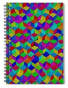 Rubik's Cube Abstract Spiral Notebook