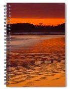 Ruby Beach Afterglow Spiral Notebook