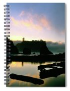 Ruby Beach Sunset Olympic National Park Spiral Notebook