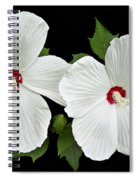 Ruby Dot Hibiscus Spiral Notebook