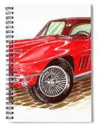 Ruby Red 1966 Corvette Stingray Fastback Spiral Notebook