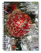 Ruby Red Ornament Spiral Notebook