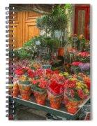 Rue Cler Flower Shop Spiral Notebook