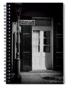 Rue Dauphine French Quarter New Orleans-monochrome Spiral Notebook