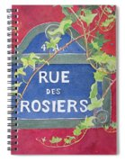 Rue Des Rosiers In Paris Spiral Notebook