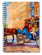 Rue Notre Dame Caleche Ride Spiral Notebook