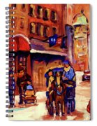 Rue St. Paul Old Montreal Streetscene In Winter Spiral Notebook