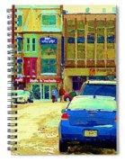 Rue Stanley Cafe Bistro La Marinara Italian Resto Asm Acting School Downtown Montreal Urban Scenes   Spiral Notebook