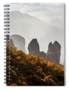 Rugged Cliffs And A Monastery  Meteora Spiral Notebook