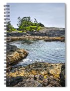 Rugged Coast Of Pacific Ocean On Vancouver Island Spiral Notebook
